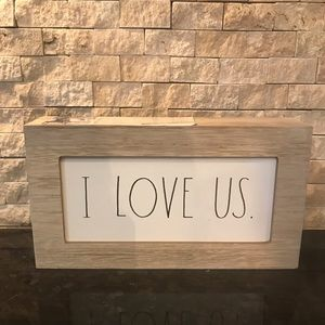 Rae Dunn I LOVE US Painted Sign
